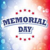 Memorial day greeting card Royalty Free Stock Photography