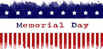 Memorial day greeting card american flag grunge background royalty free stock images