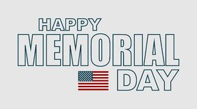 Memorial day. Greeting card. Flag usa Royalty Free Stock Photos