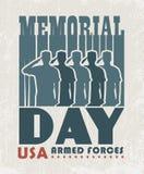 Memorial day greeting card Royalty Free Stock Image