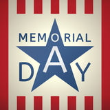 Memorial Day grunge retro background  with the emblem  Stock Photo