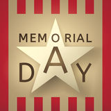 Memorial Day grunge retro background  with the emblem Stock Image