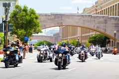 Memorial Day helg - mopeder rider tradition i Washington, DC Royaltyfria Bilder