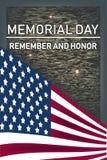 Memorial Day herinnert zich en honnor - kaart royalty-vrije illustratie