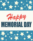Memorial Day heureux sur le drapeau américain Photo stock