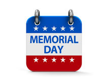 Memorial day icon calendar Royalty Free Stock Photo