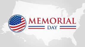 Memorial Day Illustration with American Flag royalty free illustration
