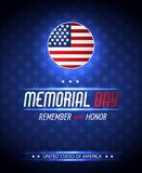 Memorial day illustration with american flag. Vector background Royalty Free Stock Image