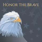 Memorial Day. Illustration with the lettering honor the brave Royalty Free Stock Photo