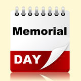Memorial Day Indicates America Patriotism And Appointment Royalty Free Stock Photo