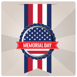 Memorial day. Isolated banner with a banner with text and the american flag for memorial day Stock Photos