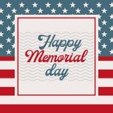 Memorial Day -kaart royalty-vrije illustratie
