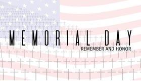 Memorial Day -Karte Lizenzfreies Stockfoto