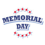 Memorial day logo. Memorial day america logo sign isolated on white background  illustration Stock Images