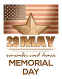 Memorial Day 2017. 29 May. Remember and honor Royalty Free Stock Photos