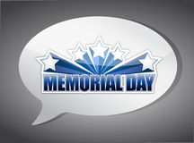 Memorial day message chat illustration design Royalty Free Stock Images