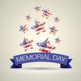 Memorial Day mit Stern in den Staatsflaggefarben Stockbilder
