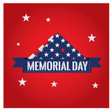Memorial day. Napkin with some stars on a red background for memorial day celebrations Royalty Free Stock Image