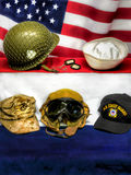 Memorial Day och veterandag Arkivfoto