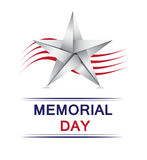 Memorial Day with origami star Stock Photos