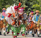 Memorial Day Parade. Colorfully attired marchers in the annual Memorial Day Parade in Livingston, New Jersey, on May 25, 2015 Royalty Free Stock Images