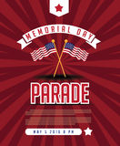 Memorial Day parade design. Stock Images