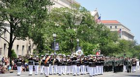 Memorial Day Parade in Washington, DC. Stock Photos