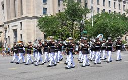 Memorial Day Parade in Washington, DC. Royalty Free Stock Photos
