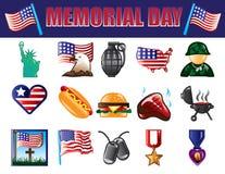 Memorial Day -Pictogrammen royalty-vrije illustratie