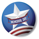 Memorial Day pin EPS 10 vector Royalty Free Stock Photography
