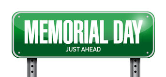 Memorial day post sign illustration design Stock Image