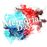 Memorial day poster Royalty Free Stock Photos