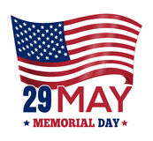 Memorial Day 2017. Poster design with the US flag Royalty Free Stock Image