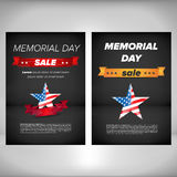 Memorial day poster with flag Stock Images