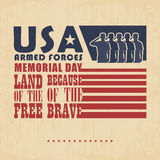 Memorial day poster Royalty Free Stock Photos
