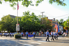 Memorial Day/quarto della parata di luglio immagine stock