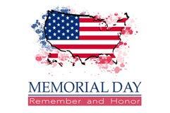 Memorial Day, recuerda y honra Imagen de archivo libre de regalías