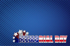 Memorial day red white and blue Royalty Free Stock Photos