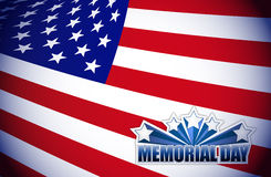 Memorial day red white and blue Stock Images