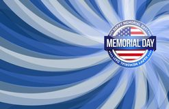 Memorial day red white and blue Stock Photography