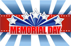 Memorial day red white and blue Royalty Free Stock Photography