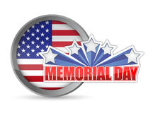 Memorial day red white and blue seal Royalty Free Stock Image