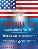 Memorial Day reklambladmall Arkivfoto