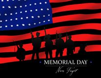 American Flag Soldier Memorial Day Never Forget royalty free stock image