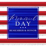 Red and Blue Paint Memorial Day royalty free stock photography