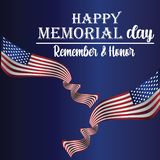 Memorial Day - Remember and honor with USA flag, Vector illustration. - Vector royalty free illustration