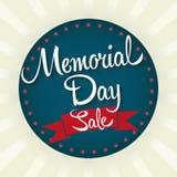 Memorial Day Sale Badge Stock Image