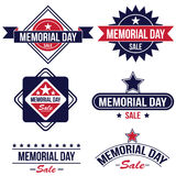 Memorial day sale badges Stock Photography