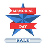 Memorial day sale banner Stock Photo