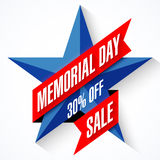 Memorial Day Sale banner Royalty Free Stock Image